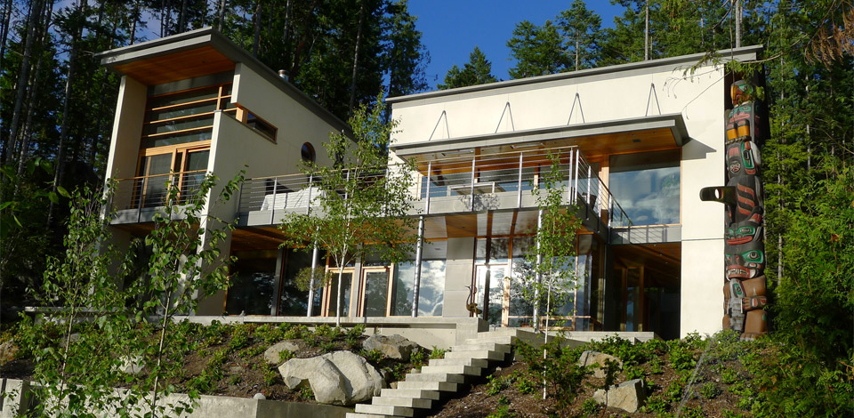 <p>Secret Cove House - Sunshine Coast</p><p>A 2,500 sq ft part-time residence, to be completed in 2012.</p>