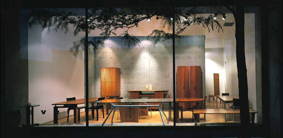 <p>Showroom</p>This Level Design showroom was located in Vancouver on 2nd Avenue, near Granville Island, between 2000 and 2005.